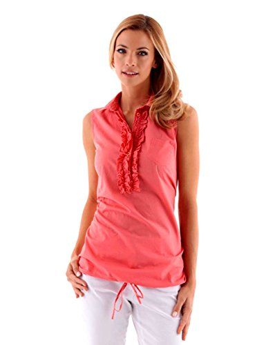 Tamaris Damen-Bluse Bluse Orange Größe 40