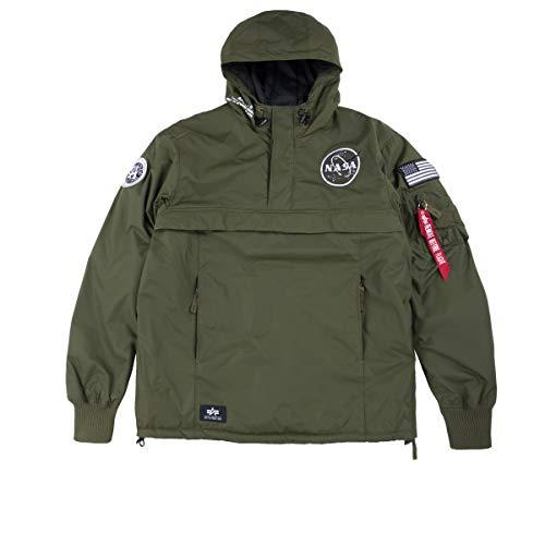 Alpha Industries Heren NASA Anorak Jacket, Blauw