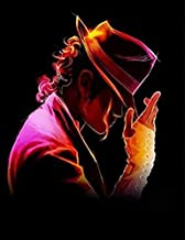 Diamond Painting Michael Jackson 16X20 inches 5D DIY Full Round Drill Rhinestone Embroidery for Wall Decoration