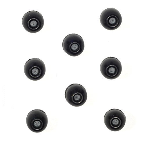 8 PACK - Large SHURE EABKF1-10L (PA910L) Replacement Black Foam Ear tips sleeves fit SHURE SE110 SE115 SE210 SE215 SE310 SE315 SE420 SE425 SE530 SE535 E3c E3g E4c E4g E5c and Westone Noise Isolating In-Ear Headphones Earphones