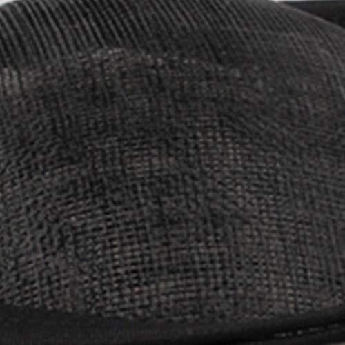 FHKGCD Diademas De Tocado De Pelo De Sinamay para Novia con Lazo, Velo De Novia, Sombreros, Tocado De Cóctel, Tocado De Carrera, Negro,