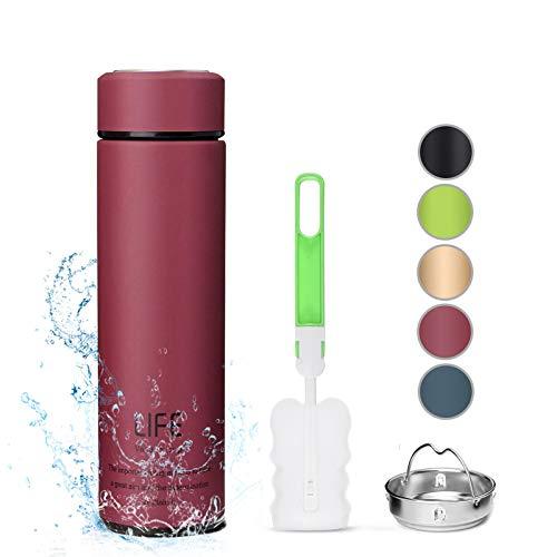 king do way Botella de Agua de Acero Inoxidable 500ML, Termo Sin BPA Ecologica, Botellas Termica Reutilizable Frascos Termicos para Al Aire Libre, Yoga, Escuela, Nino