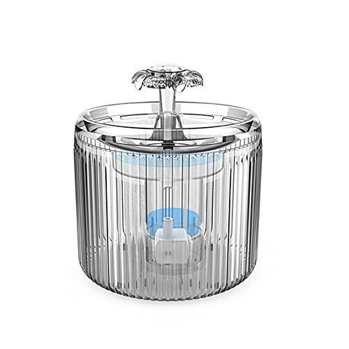 Fuente de agua del gato, dispensador de agua automática de mascotas con filtros, filtración cuádruple, dos modos de flujo, operación silenciosa, capacidad de 2.6L, para gatos de mascotas y perros