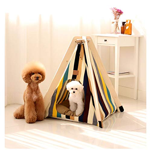 GDDYQ huisdiertent voor huisdieren, eenvoudig te monteren, afneembaar en wasbaar, huishouden voor katten, universeel speelhuisje voor vier seizoenen, geschikt voor kleine honden