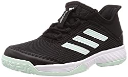 adidas Unisex-Child Adizero Club Tennis Shoe, Core Black/Dash Green/Footwear White, 36 EU