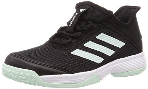 adidas Unisex-Child Adizero Club Tennis Shoe, Core Black/Dash Green/Footwear White, 36 EU