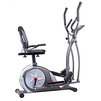 Body Rider BRT5800 3-in-1 Trio Trainer Workout Machine Black Gray Silver and Red