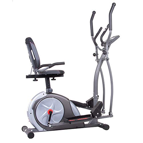 Body Rider BRT5800, 3-in-1 Trio Trainer Workout Machine, Black, Gray, Silver, and Red