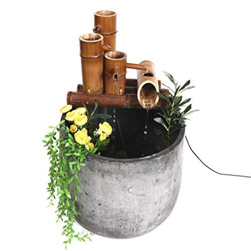 ZLBIN Fuente De Agua con Caña De Bambú, para Pequeño Estanque Fish Tank Decoración del Jardín