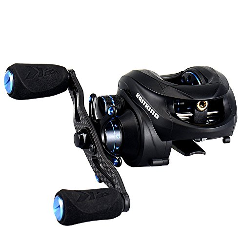 KastKing NEW Assassin Carbon Baitcasting Reel, Only 5.7 OZ, 16.5 LB Carbon Fiber Drag, 11+1 BB, Dual Brakes, Our Lightest Baitcaster Fishing Reel, Affordable! (Right Handed)