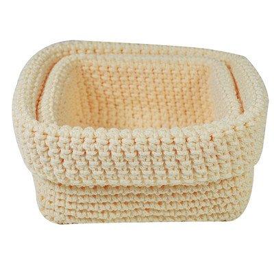 Jocca Ganchillo cestas de Almacenamiento, Juego de 2, Polipropileno, Multicolor, 21x 8x 6cm