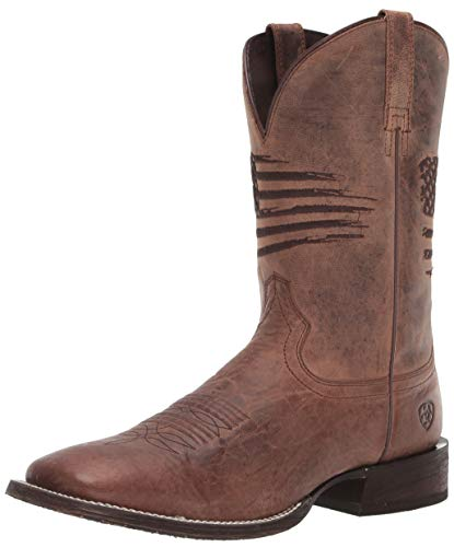 Ariat Circuit Patriot Western Boots - Herren Leder Westernstiefel, Braun (Verwitterte Bräune), 42.5 EU