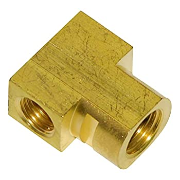 Inline Tube Compatible with 1964-1970 Rear Flex Brake Line Hose Brass Tee Block with w Slot Axle End Housing  E-3-8