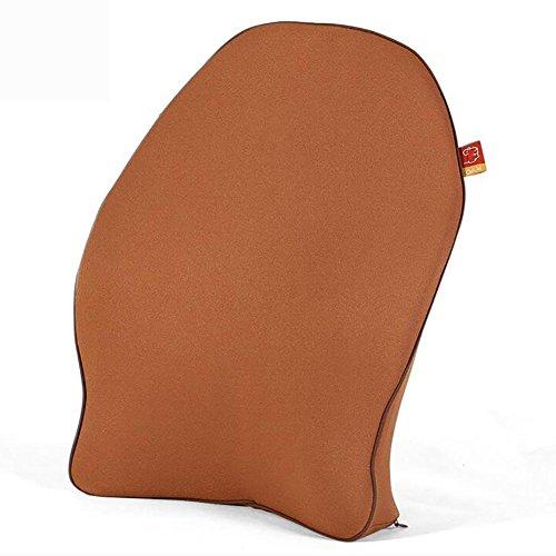 MIAO Car Memory Foam Lumbar ondersteuning rugkussen met gebalanceerde stevigheid ontworpen voor lage rugpijn verlichting- Ideaal rugkussen voor computer/bureaustoel, autostoel, ligstoel enz.