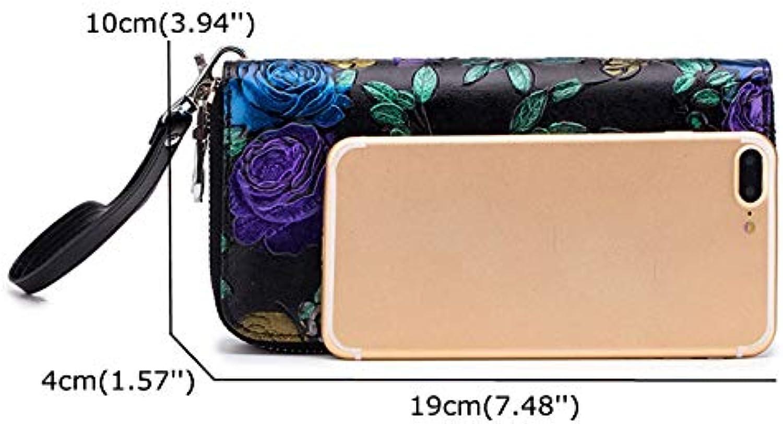 ACHKL Women Print National Style Leather Long Wallet Card Holder Purse ACHKL (color   color 3, Size   OneSize)