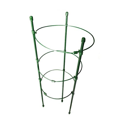 Museourstyty Ranksäule aus Stahl, 45 cm oder 60 cm, konisches Rankgitter, für Blumen, Pflanzen, Rankhilfe