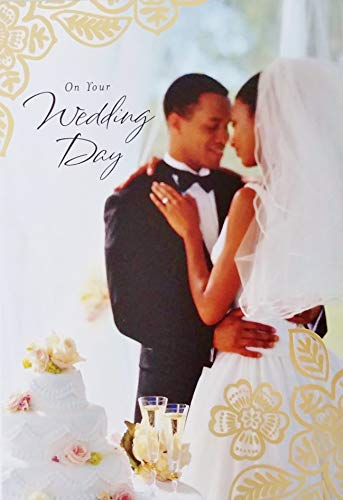On Your Wedding Day for Black African American Couple - Congratulations Greeting Card - May This Day of Love and Happy Memories Be Followed by Many Days and Years of The Same