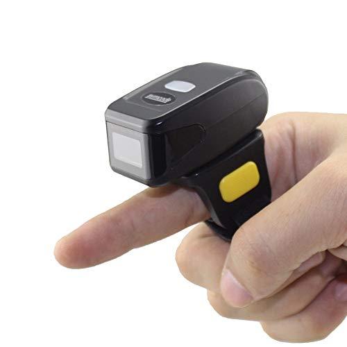 WYP Wearable 2D Barcode Scanner Mini Bluetooth Código De Barras del Lector para Su Almacén, Centro De Distribución Y Tienda Al por Menor