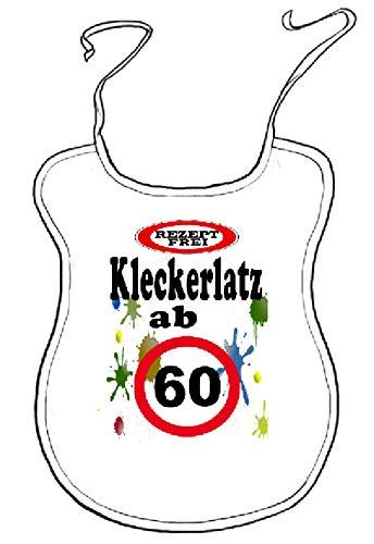 """Kleckerlatz Scherz-Latz für Erwachsene ab 60"""" Baby-Lätzchen"""