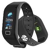 Fitness Tracker, Smart Watch con schermo a colori, monitoraggio dell'attività fisica, frequenza cardiaca, pressione sanguigna, rilevatore di ossigeno, contapassi, impermeabile IP67, Android e iOS