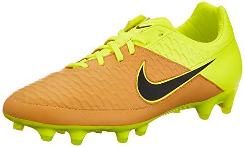 Nike Magista Orden Lthr FG, Scarpe da Calcio Uomo, Oro/Nero/Verde (Canvas/Black-Volt), 42 1/2 EU