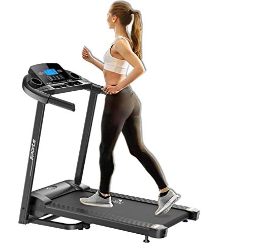 Dolphy Folding Motorized Treadmill with Safe Handlebar, LCD Display and MP3 USB Port Electric (2.5HP) for Home Jogging, Fitness...