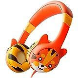 Kidrox Tiger-Ear Kids Headphones Boys/Girls - 85dB Volume Limited, Wired Toddler Headphones