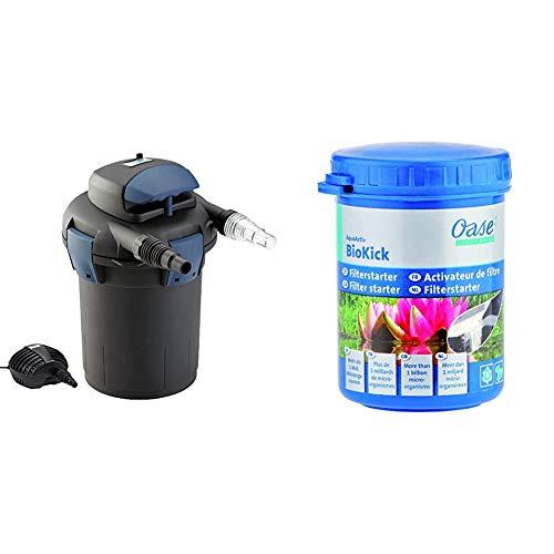 Oase 50499 BioPress Set 4000 & Starterbakterien AquaActiv BioKick, 100 ml