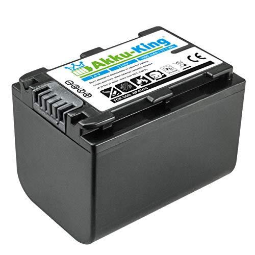 Akku-King Akku kompatibel mit Sony NP-FH70 - Li-Ion 1500mAh - für DCR- u. HDR-Serie u.a. DCR-DVD150E, DCR-DVD450E, DCR-SR37E, DCR-SR47E, DCR-SX30E