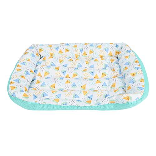 ZheHanWUFB Cama para gatos y perros, cama para mascotas para gatos o cachorros, cama lavable, cama cuadrada suave, nido para mascotas, casa de perro, tamaño pequeño, tamaño mediano, cama (verde M)