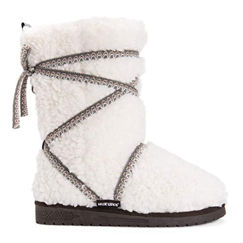 MUK LUKS Damen Women's Reyna Boots modischer Stiefel, elfenbeinfarben, 37 EU