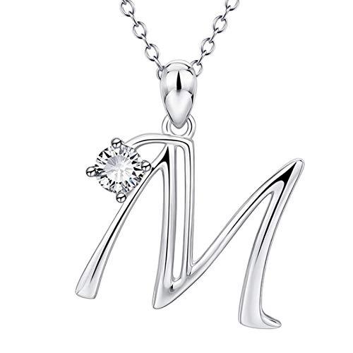 26 letras inglesas nombre, collar colgante, joyas de moda para mujeres, regalo para el día de San Valentín, fiesta, aniversario, cumpleaños, regalo de graduación