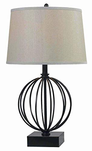 Kenroy Home 32102ORB Globus Table Lamps, Medium, Oil Rubbed Bronze Finish
