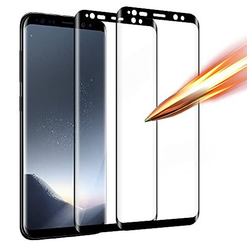 Zinking [2 Stück] Panzerglas Kompatibel mit Samsung Galaxy S8, Schutzfolie aus Hochauflösender, Ultra Transparenter, Blasenhemmender Panzerglasfolie und Samsung S8 Bildschirm Displayschutzfolie