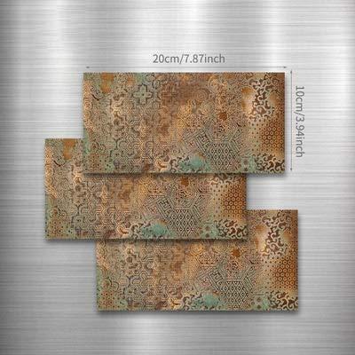 Pegatinas de azulejos de 20 x 10 cm, diseño retro con personalidad impermeable, para azulejos de terrazzo, para cocina, para baño, hogar, color (color: estilo B, tamaño: 54 piezas)
