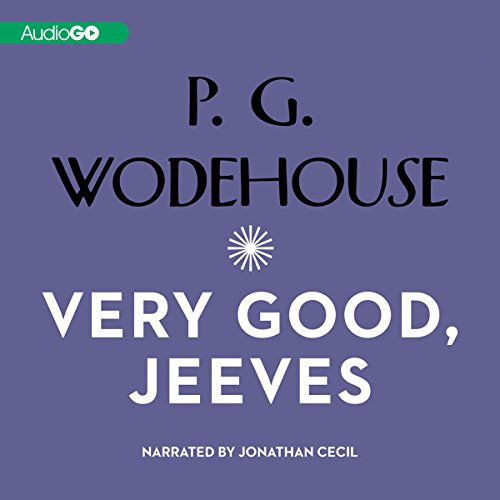 Very Good Jeeves audiobook cover art