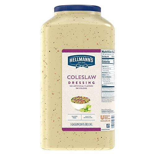Hellmann's Coleslaw Salad Dressing Jug Gluten Free, No Artificial Flavors or Colors, 1 gallon