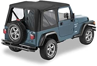 Pavement Ends by Bestop 51198-15 Black Denim Replay Replacement Soft Top Clear Windows; No door skins included for 1997-2002 Jeep Wrangler