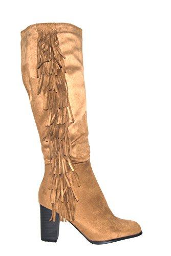 Twinkle Toes, Damen Stiefel & Stiefeletten , beige - Kamelfarbenes Wildleder - Größe: 37