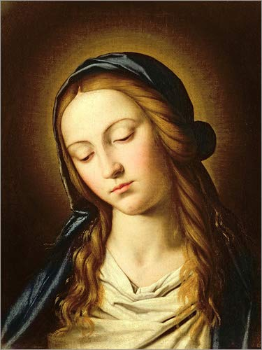 Posterlounge Cuadro de PVC 60 x 80 cm: Head of The Madonna de Il Sassoferrato/Bridgeman Images