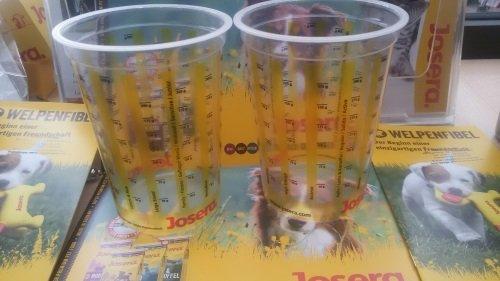 2 vasos medidores Josera para comida para perros también para Josera Youngstar y Active Nature.