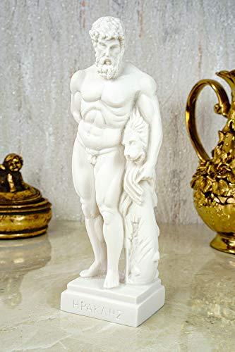 Kremers Schatzkiste Alabaster Figur Hercules Sohn des Zeus Skulptur 22 cm weiß Glück