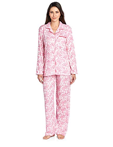 Casual Nights Women's Long Sleeve Floral Pajama Set - Pink - XXX-Large
