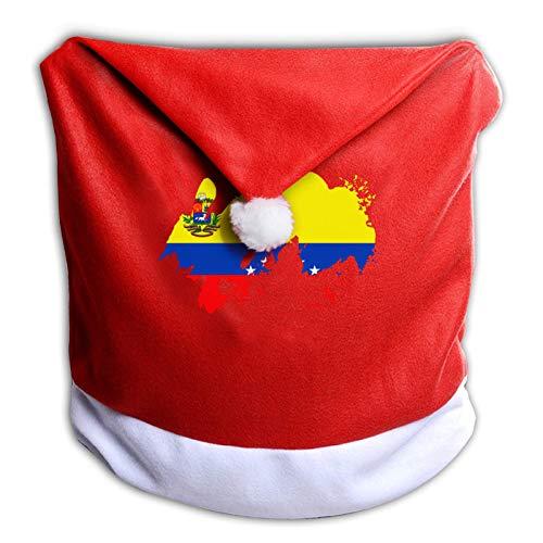 Leila Marcus Fundas de silla de Navidad con bandera de Venezuela para sillas de comedor, vacaciones,