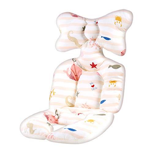 VVXXMO Almohada universal de apoyo para la cabeza del cochecito de bebé,Alfombrilla de algodón cálida,Colchón para dormir