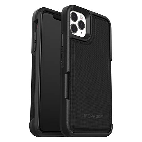 Lifeproof Custodia Wallet per iPhone 11 Pro Max Anti Caduta con Cover Posteriore, Nero