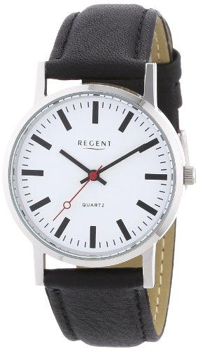 Regent 11110362 - Reloj de caballero de cuarzo, correa de piel color negro