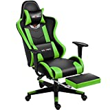 Shuanghu Gaming Chair Office Chair Ergonomic Computer Chair with Reclining Chair with Headrest and Lumbar Support Video Game Chair for Adults Teens Desk Chair(Footrest)