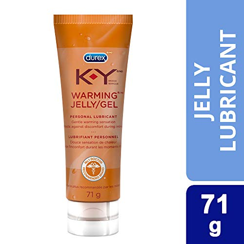 K-Y Warming Jelly Personal Lubricant (2.5 oz), Premium Non-Greasy Warming Lube For Women, Men & Couples