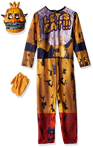 Rubie's Costume 630621-M Boys Five Nights at Freddy's Nightmare Chica The Chicken Costume, Medium, Multicolor
